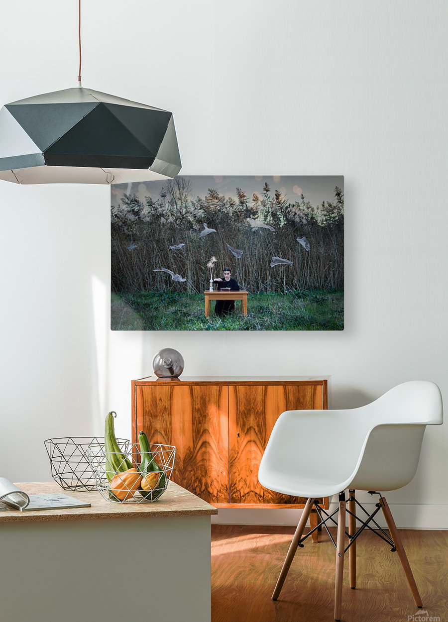 Deperson  HD Metal print with Floating Frame on Back