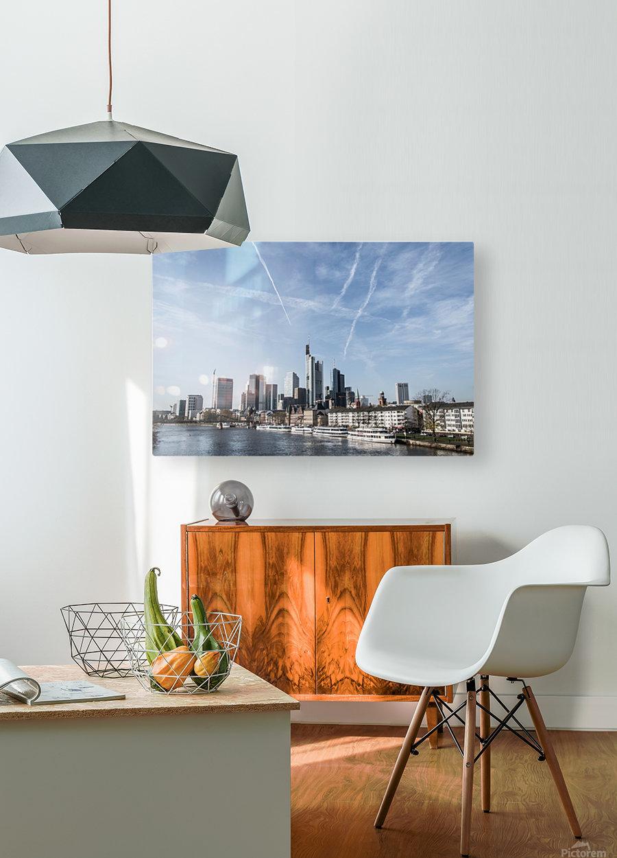 frankfurt skyscraper  HD Metal print with Floating Frame on Back