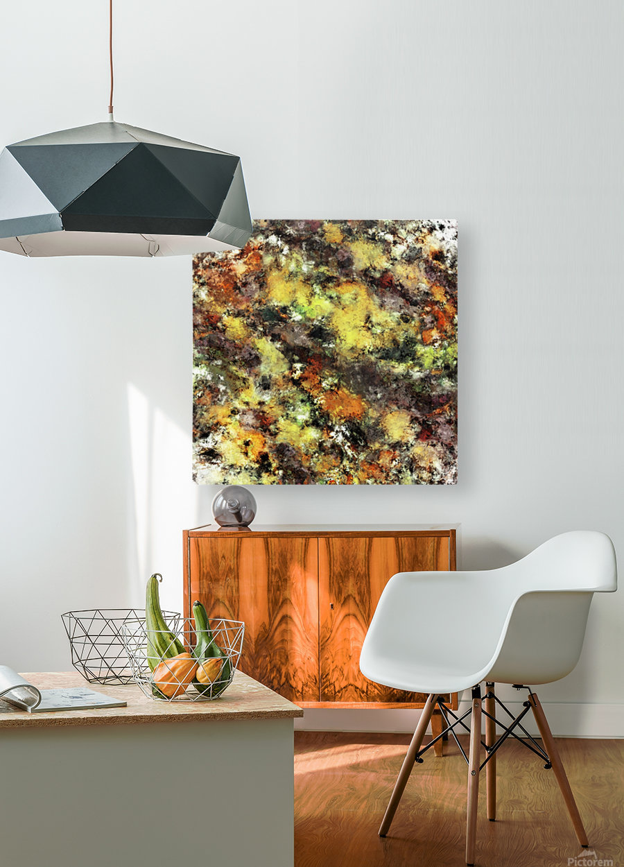 Leaning strata  HD Metal print with Floating Frame on Back