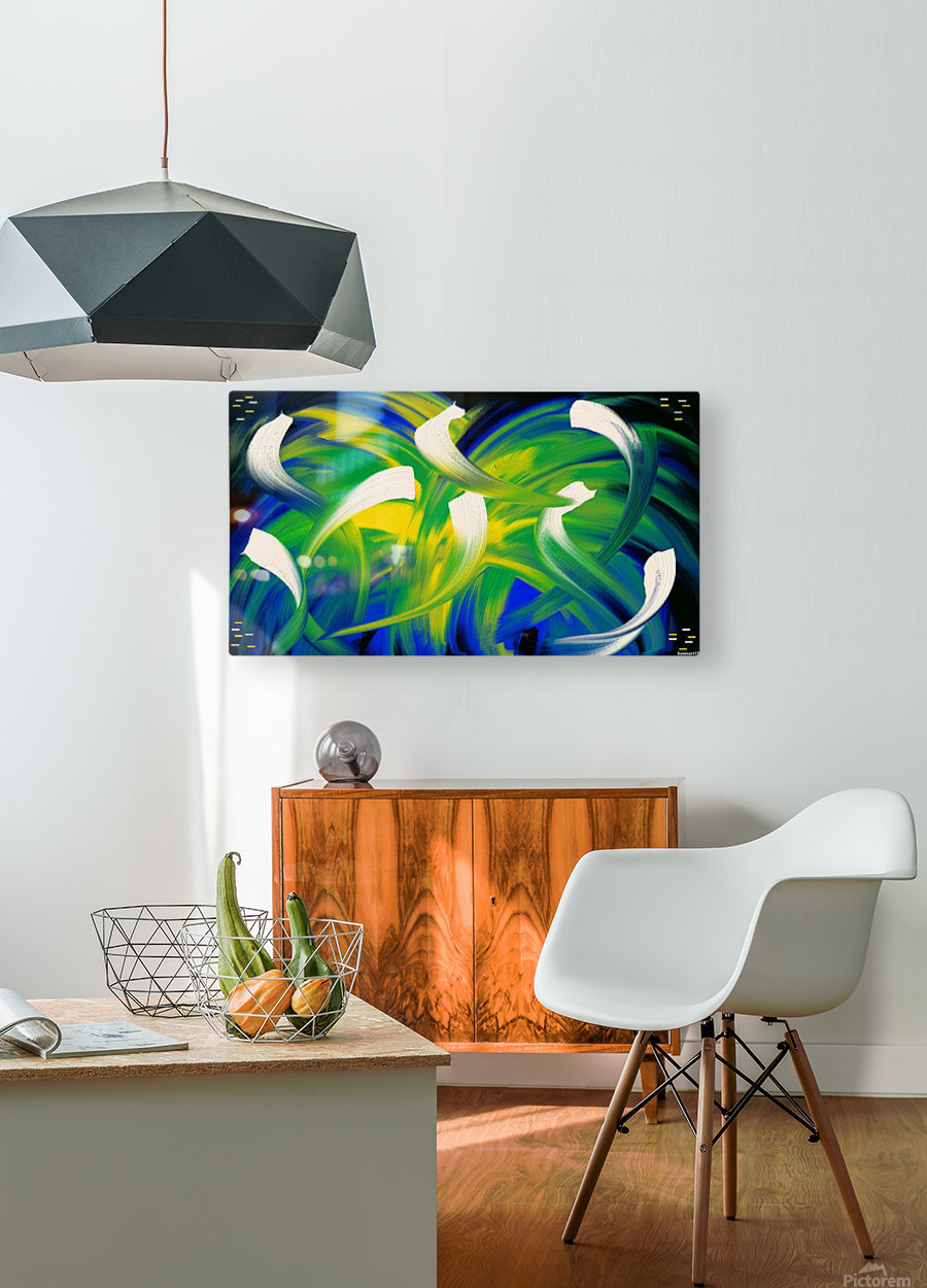 Alien Planet  HD Metal print with Floating Frame on Back