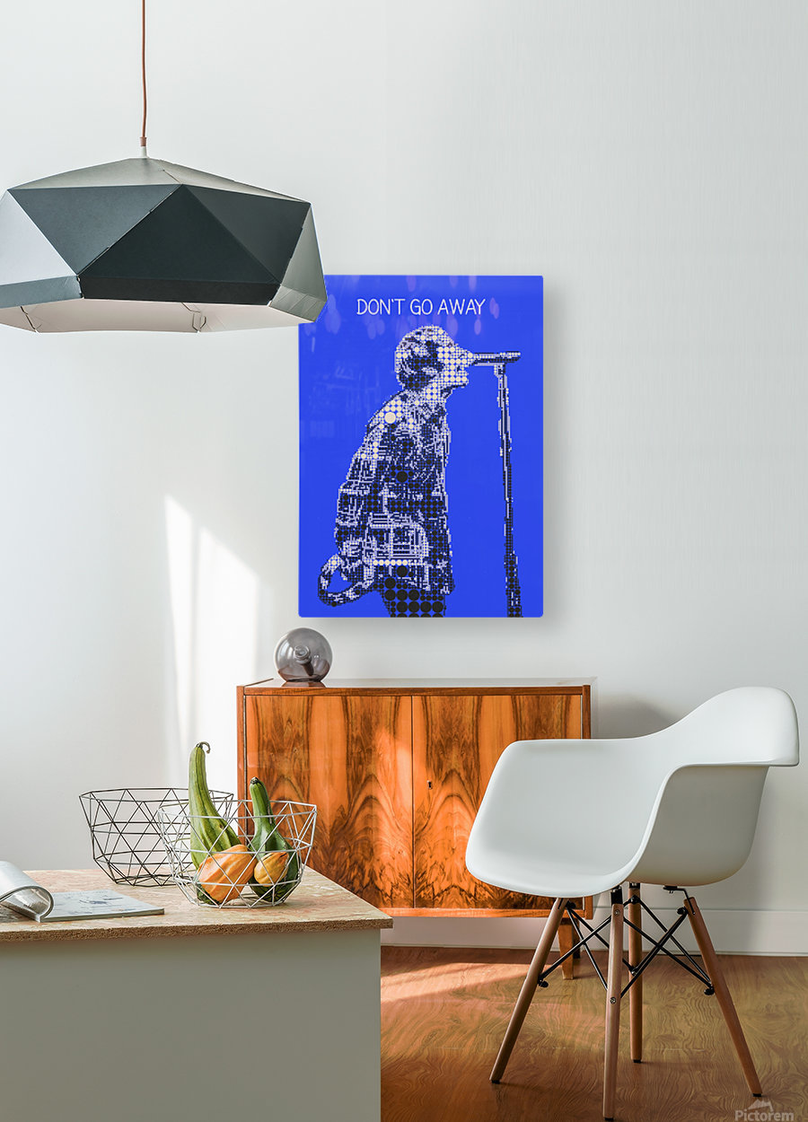 Dont Go Away   Liam Gallagher  HD Metal print with Floating Frame on Back