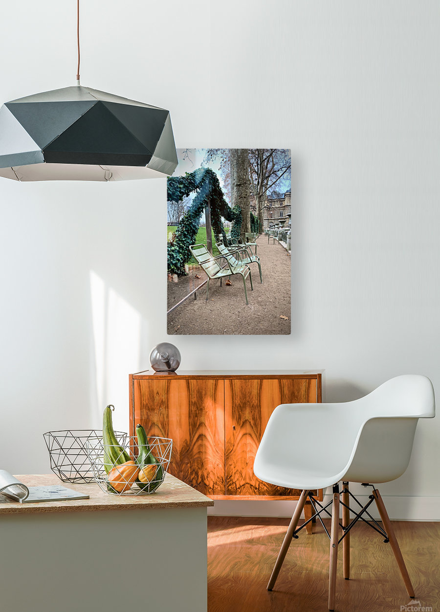 Chaises du Luxembourg   7  HD Metal print with Floating Frame on Back