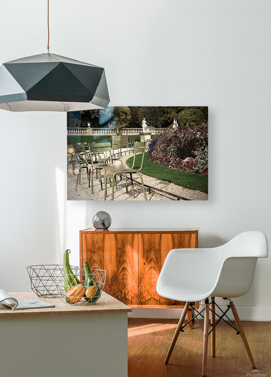 Chaises du Luxembourg   8  HD Metal print with Floating Frame on Back
