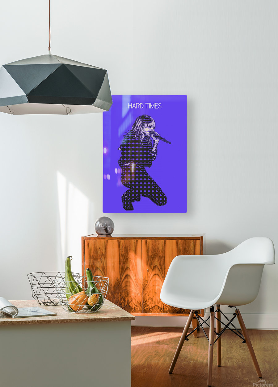Hard Times   Paramore  HD Metal print with Floating Frame on Back