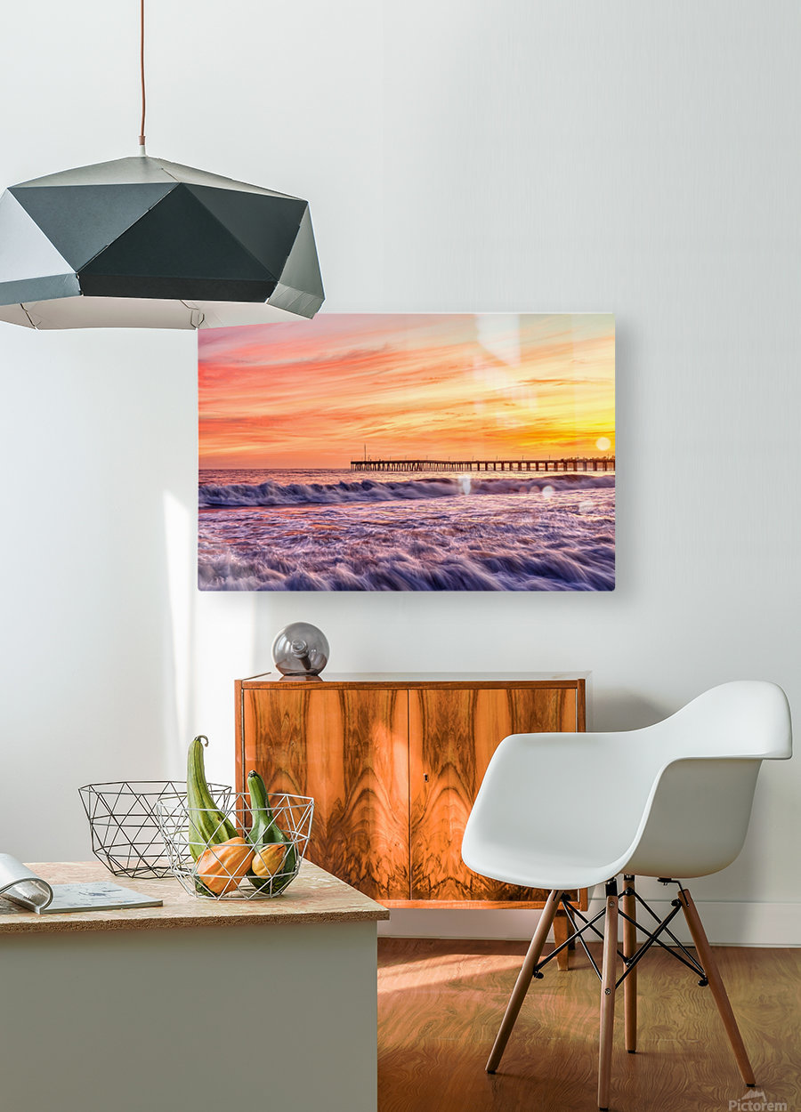 Energized  HD Metal print with Floating Frame on Back