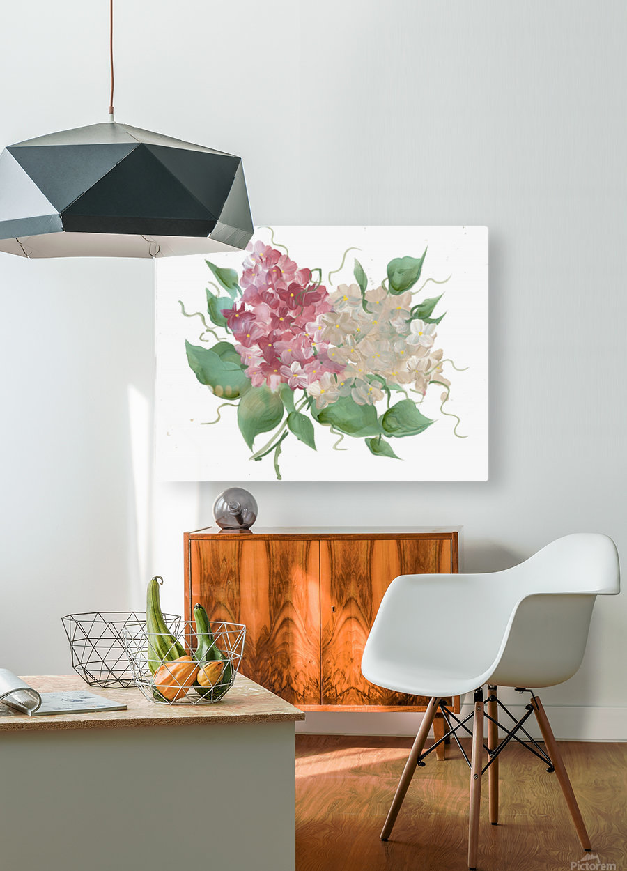 hydrangea  HD Metal print with Floating Frame on Back