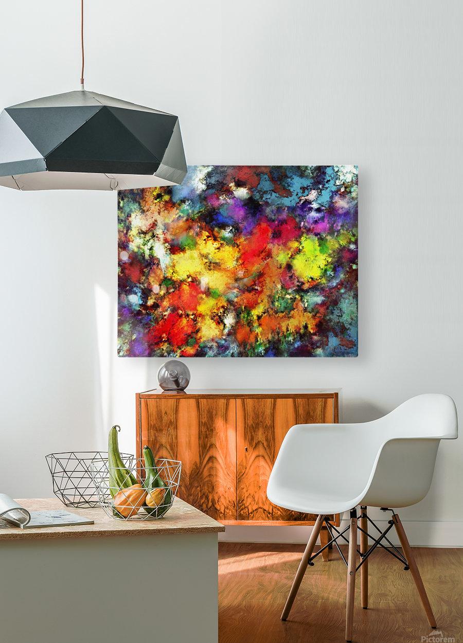 Ridge  HD Metal print with Floating Frame on Back