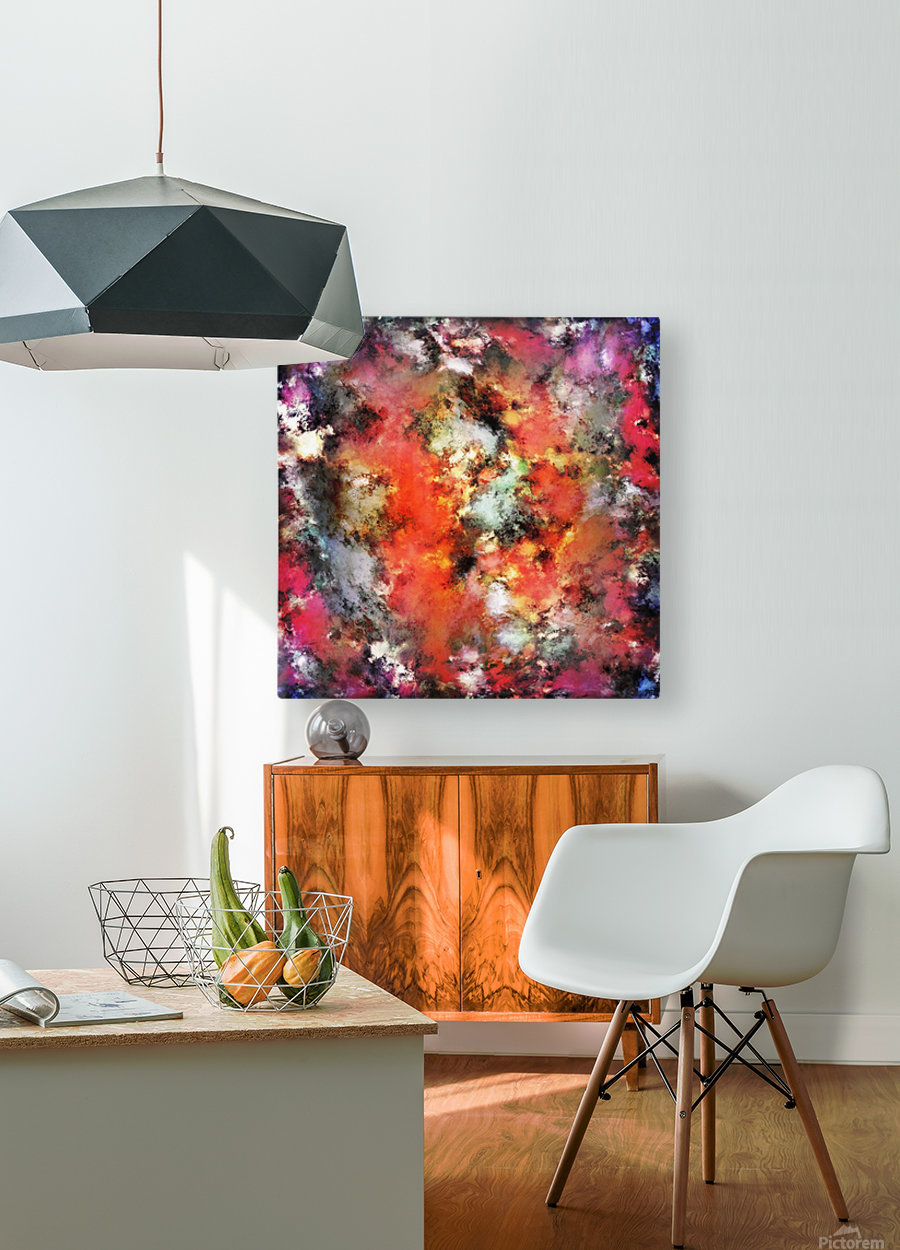 See the flames  HD Metal print with Floating Frame on Back