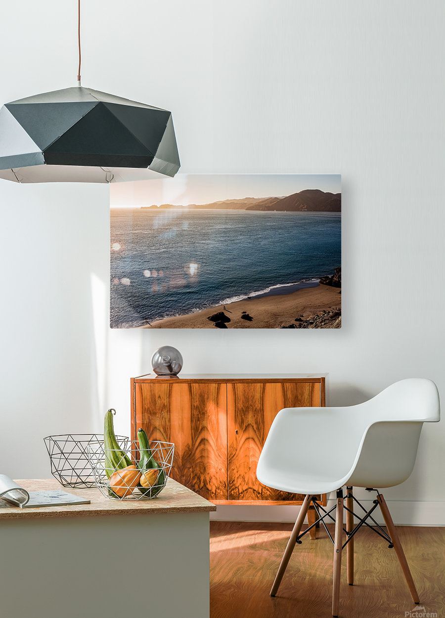 Marshall Beach Sunsets  HD Metal print with Floating Frame on Back