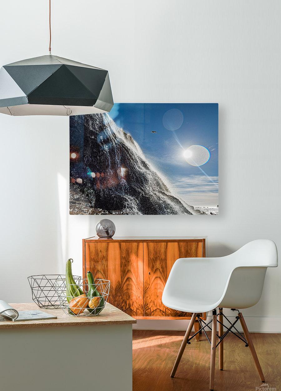 Alamere Falls  HD Metal print with Floating Frame on Back