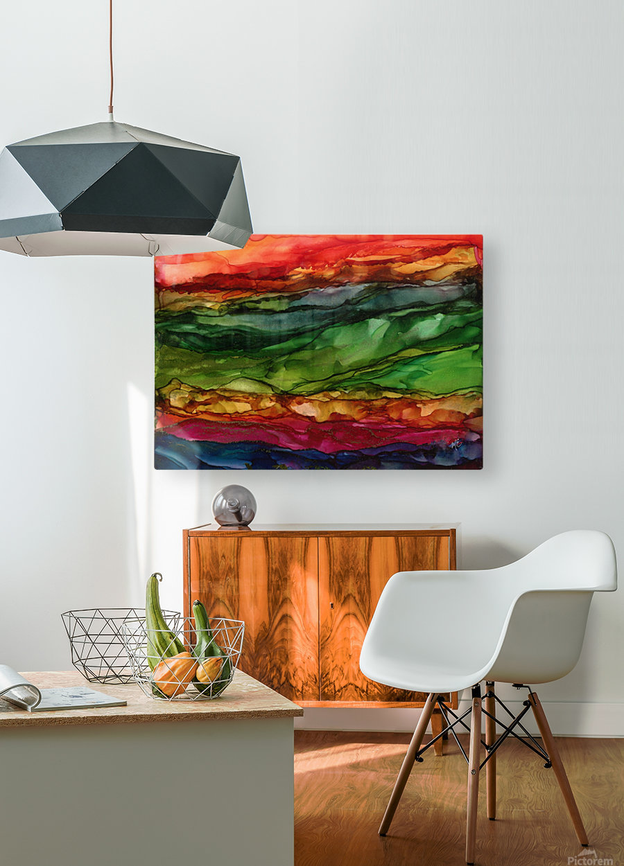 Kaleidoscope Canyon  HD Metal print with Floating Frame on Back