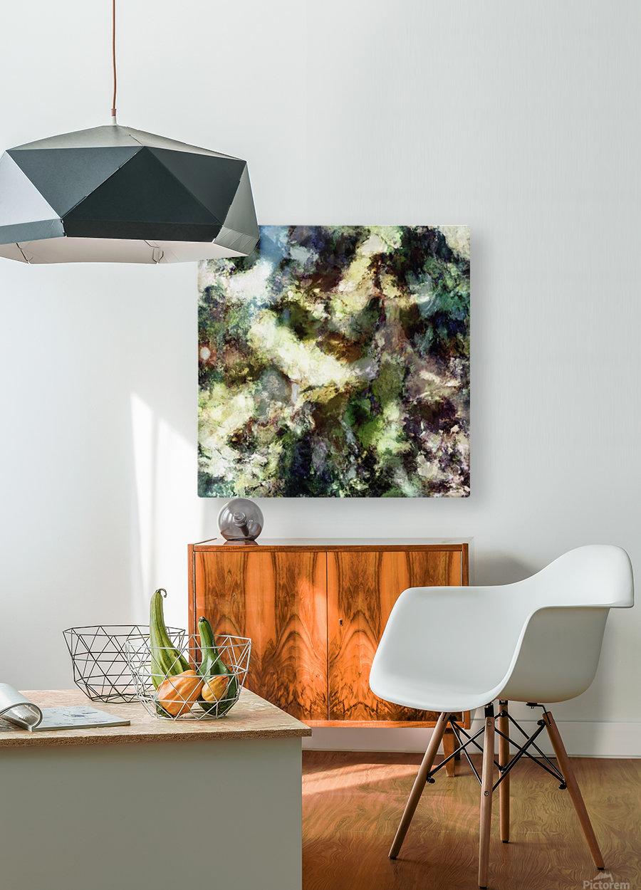 Silent erosion  HD Metal print with Floating Frame on Back