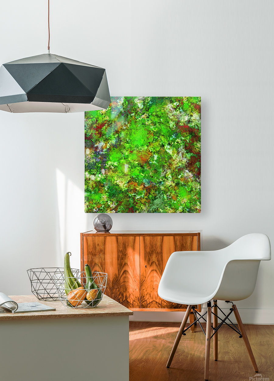 Slippery green rocks  HD Metal print with Floating Frame on Back
