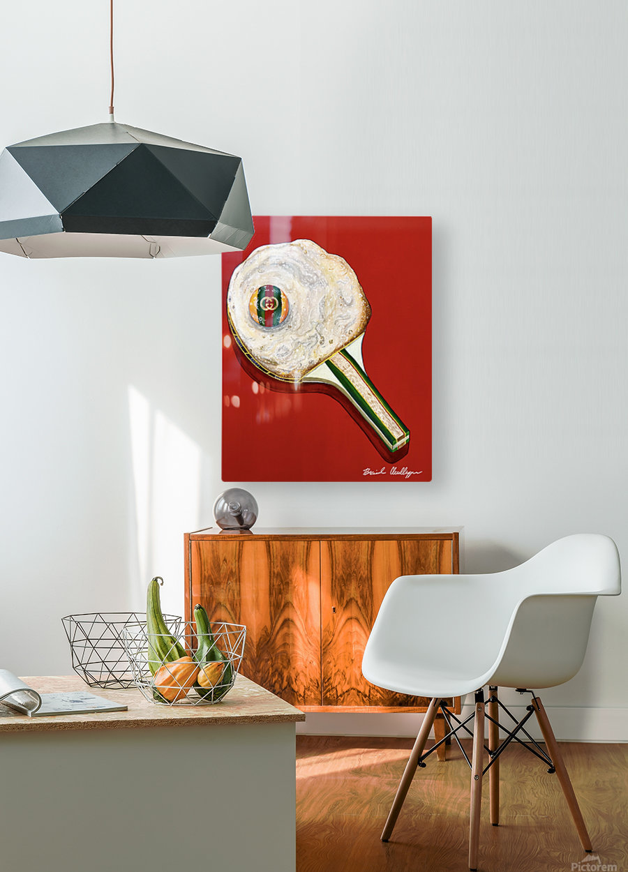 Gucci Pong Gang  HD Metal print with Floating Frame on Back