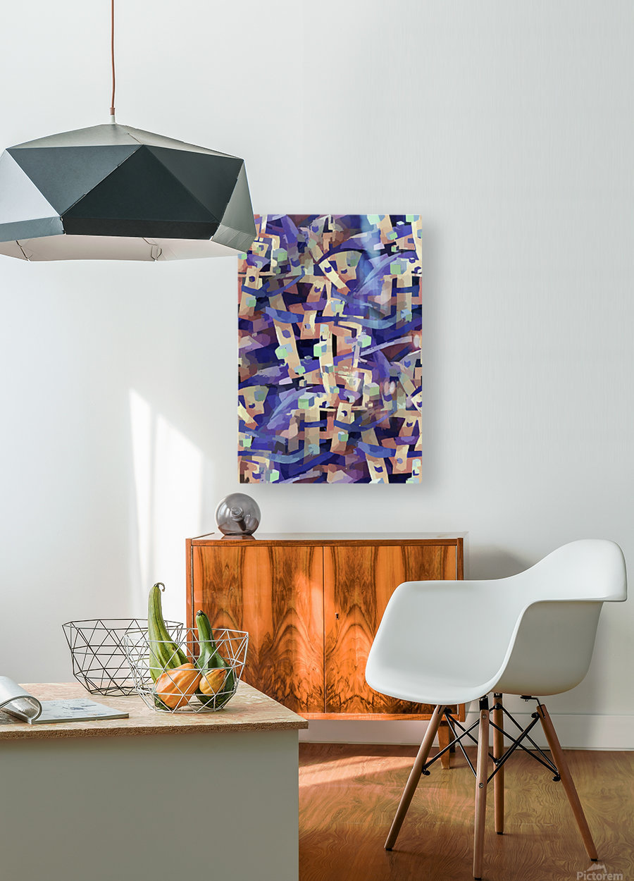 Seamless Geometric Vivid Abstract  HD Metal print with Floating Frame on Back