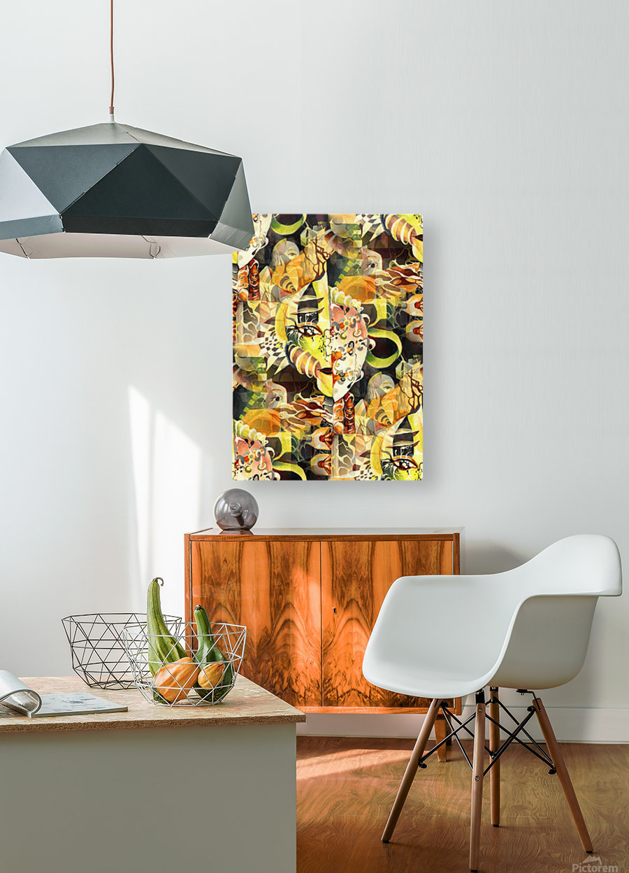 Pop Currealism Magical Utopia  HD Metal print with Floating Frame on Back