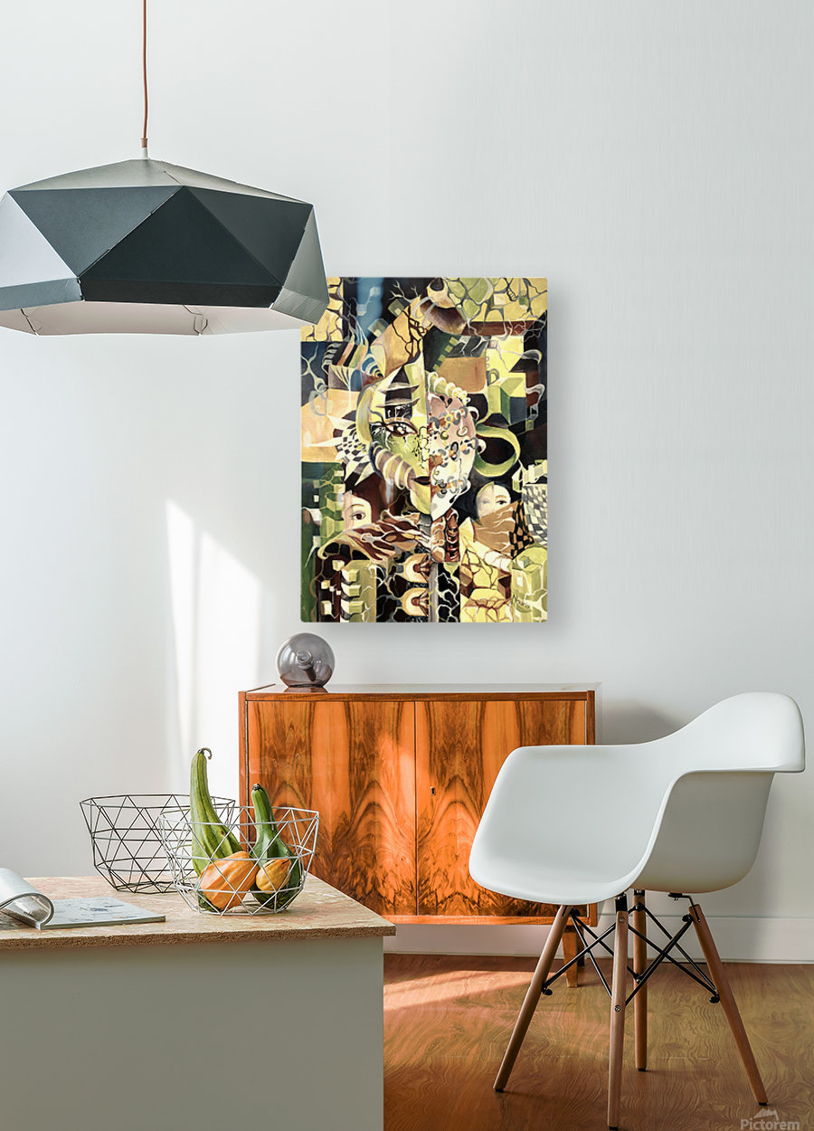 Pop Currealism Contemporary Utopia  HD Metal print with Floating Frame on Back