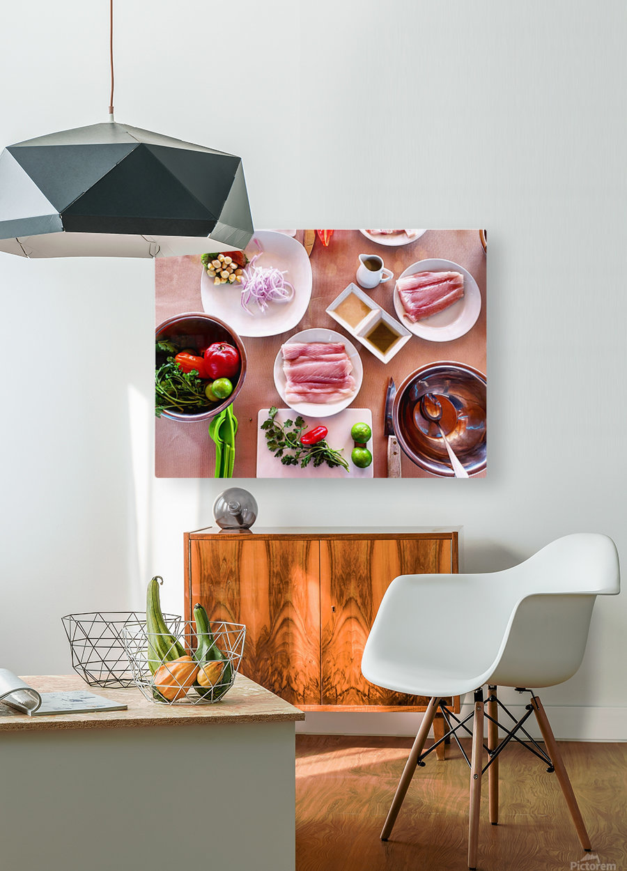 Ceviche   HD Metal print with Floating Frame on Back