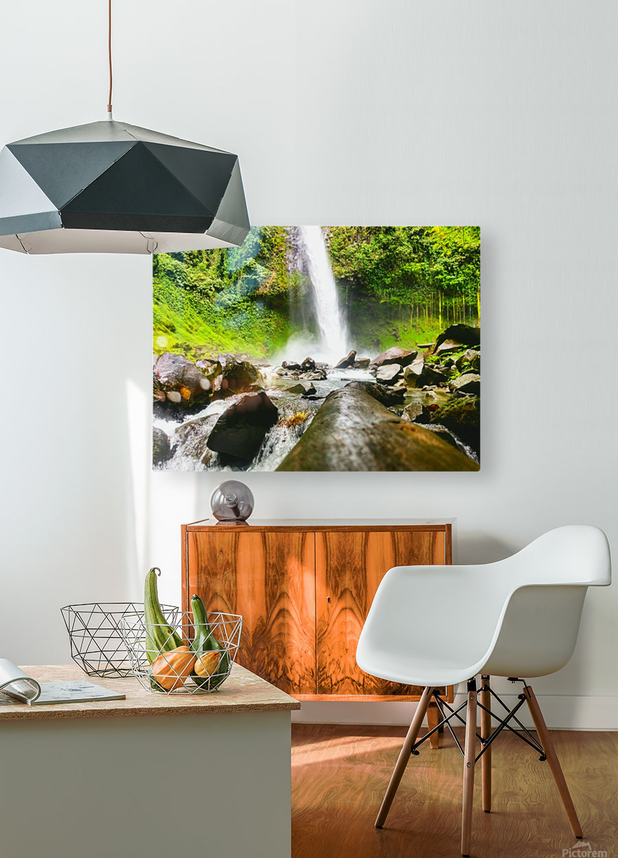 La Fortuna Waterfall   HD Metal print with Floating Frame on Back