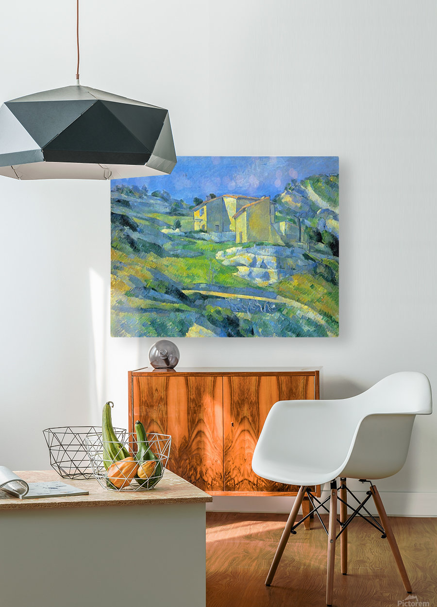 House in the Provence by Cezanne  HD Metal print with Floating Frame on Back