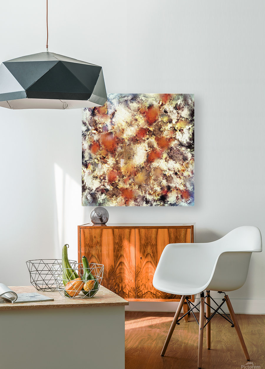 Terracotta tumble  HD Metal print with Floating Frame on Back