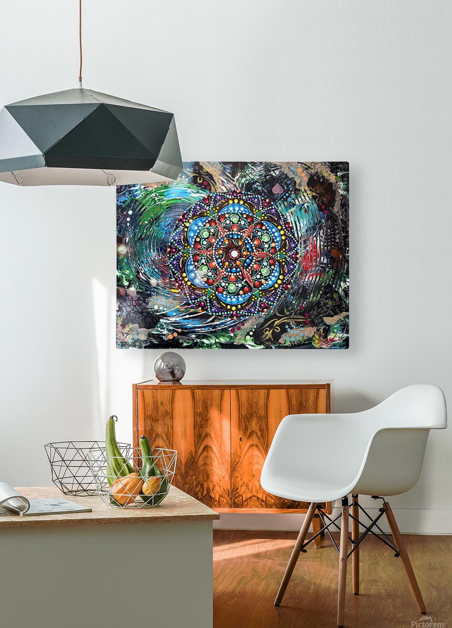 Harmonie en vert  HD Metal print with Floating Frame on Back