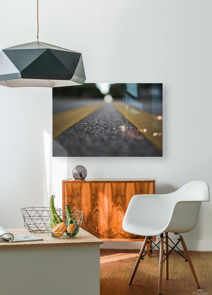 The Road Before You  HD Metal print with Floating Frame on Back