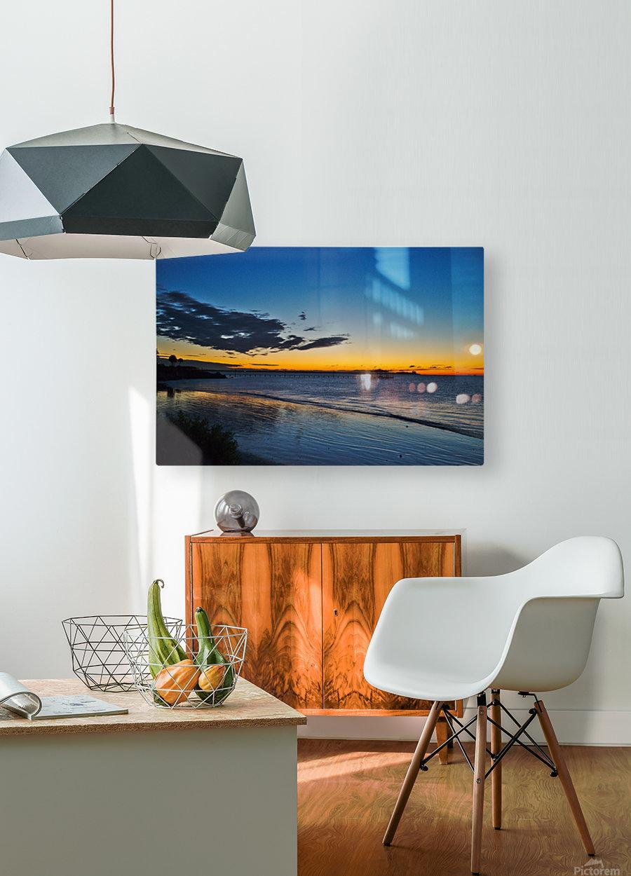 Sunrise Full Frame  HD Metal print with Floating Frame on Back