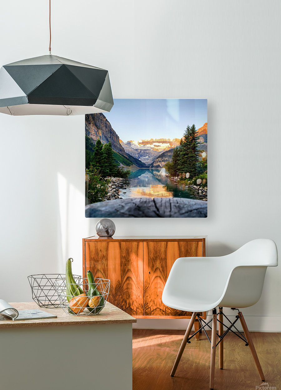 Lake Louise   HD Metal print with Floating Frame on Back