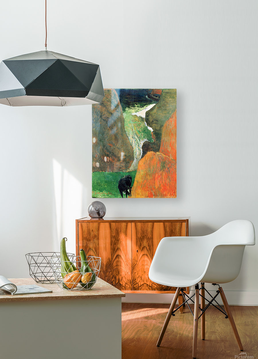 Hover Above the Abyss by Gauguin  HD Metal print with Floating Frame on Back