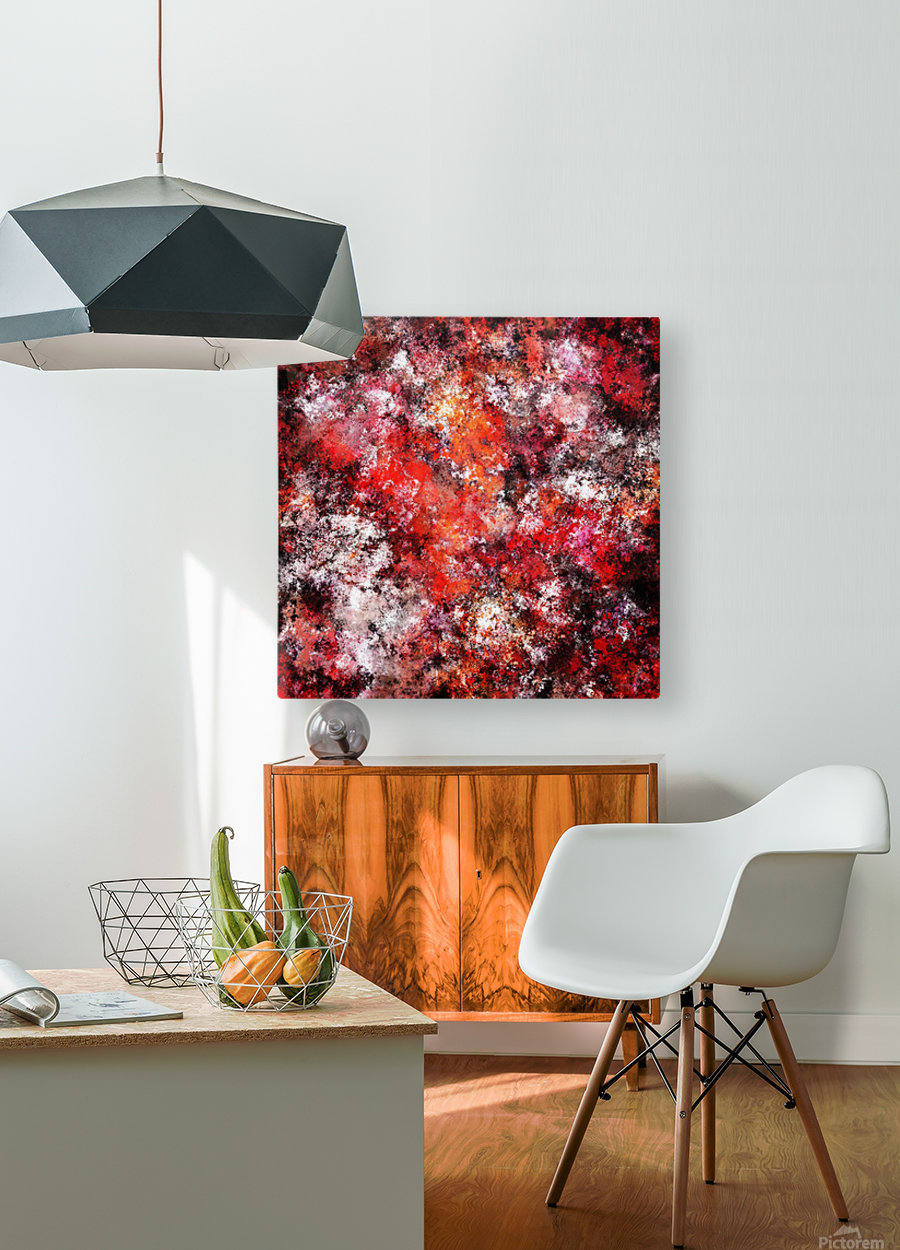 The red sea foam  HD Metal print with Floating Frame on Back