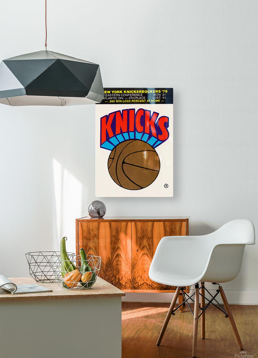 1980 New York Knicks Fleer Decal Art  HD Metal print with Floating Frame on Back