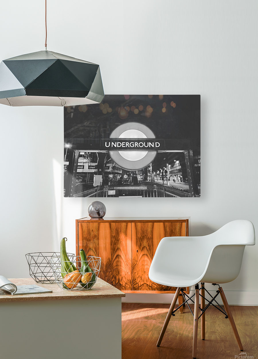 London  HD Metal print with Floating Frame on Back