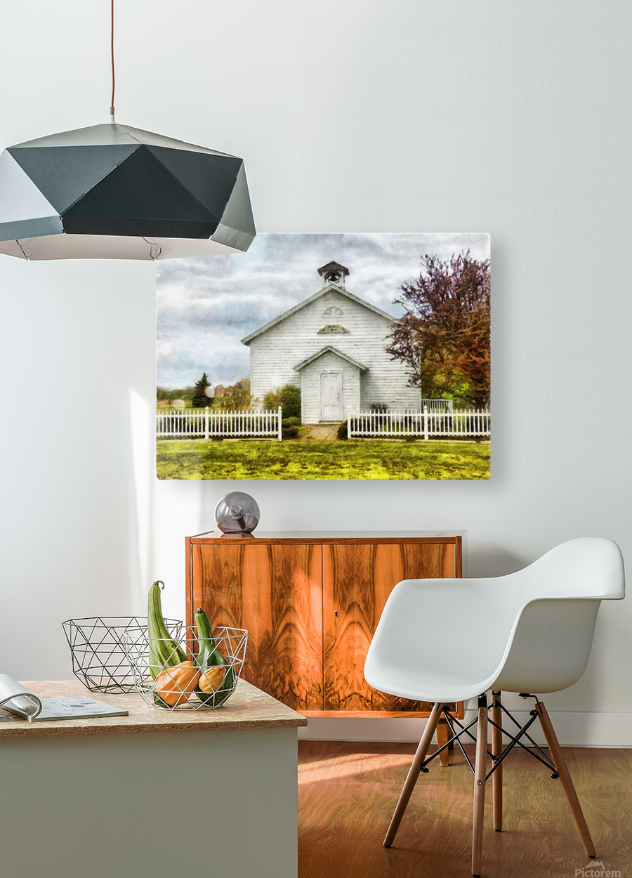 Old School House  HD Metal print with Floating Frame on Back