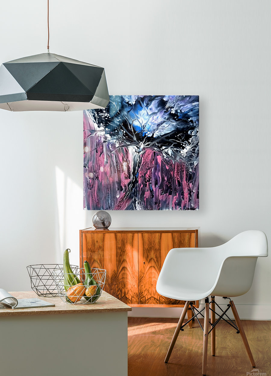 A fairy tree  HD Metal print with Floating Frame on Back