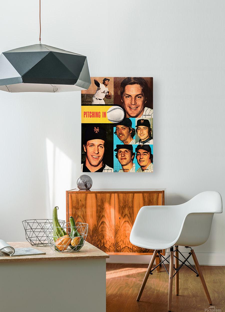 vintage mets poster tom seaver pitcher  HD Metal print with Floating Frame on Back