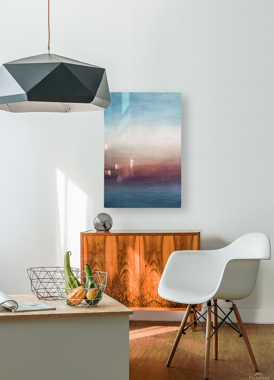 Misty Horizon 01 - Abstract Wall Art  HD Metal print with Floating Frame on Back