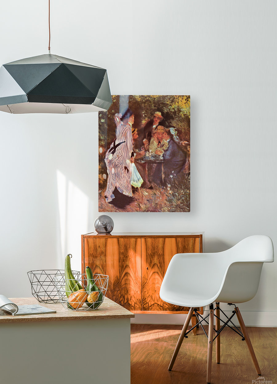 In the Garden (in the garden bower of Moulin de la Galette by Renoir  HD Metal print with Floating Frame on Back