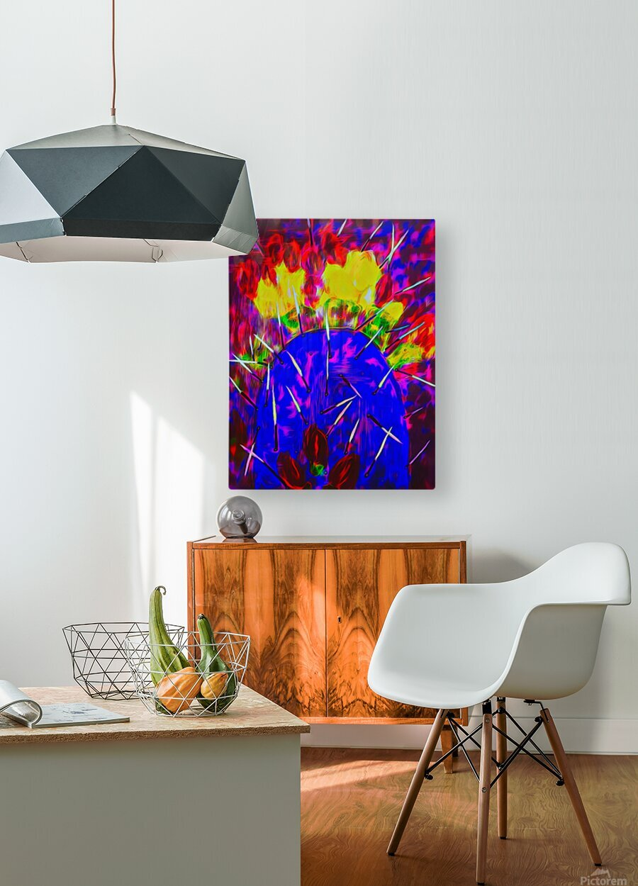 Cactus  HD Metal print with Floating Frame on Back