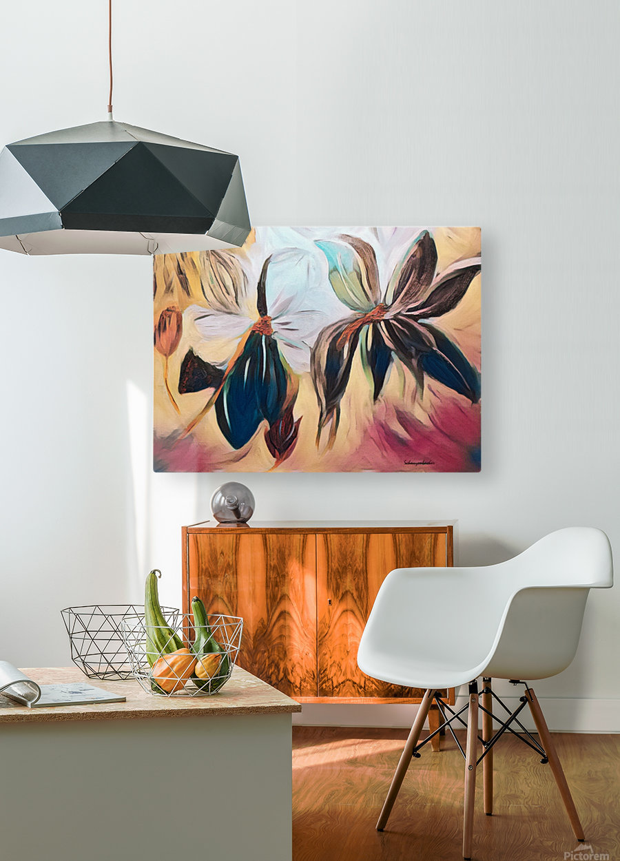 Magnolias   HD Metal print with Floating Frame on Back