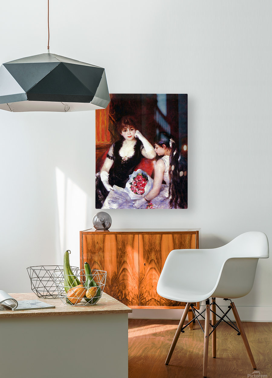 In the Loge by Renoir  HD Metal print with Floating Frame on Back