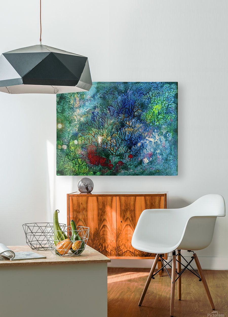 The Reef  HD Metal print with Floating Frame on Back