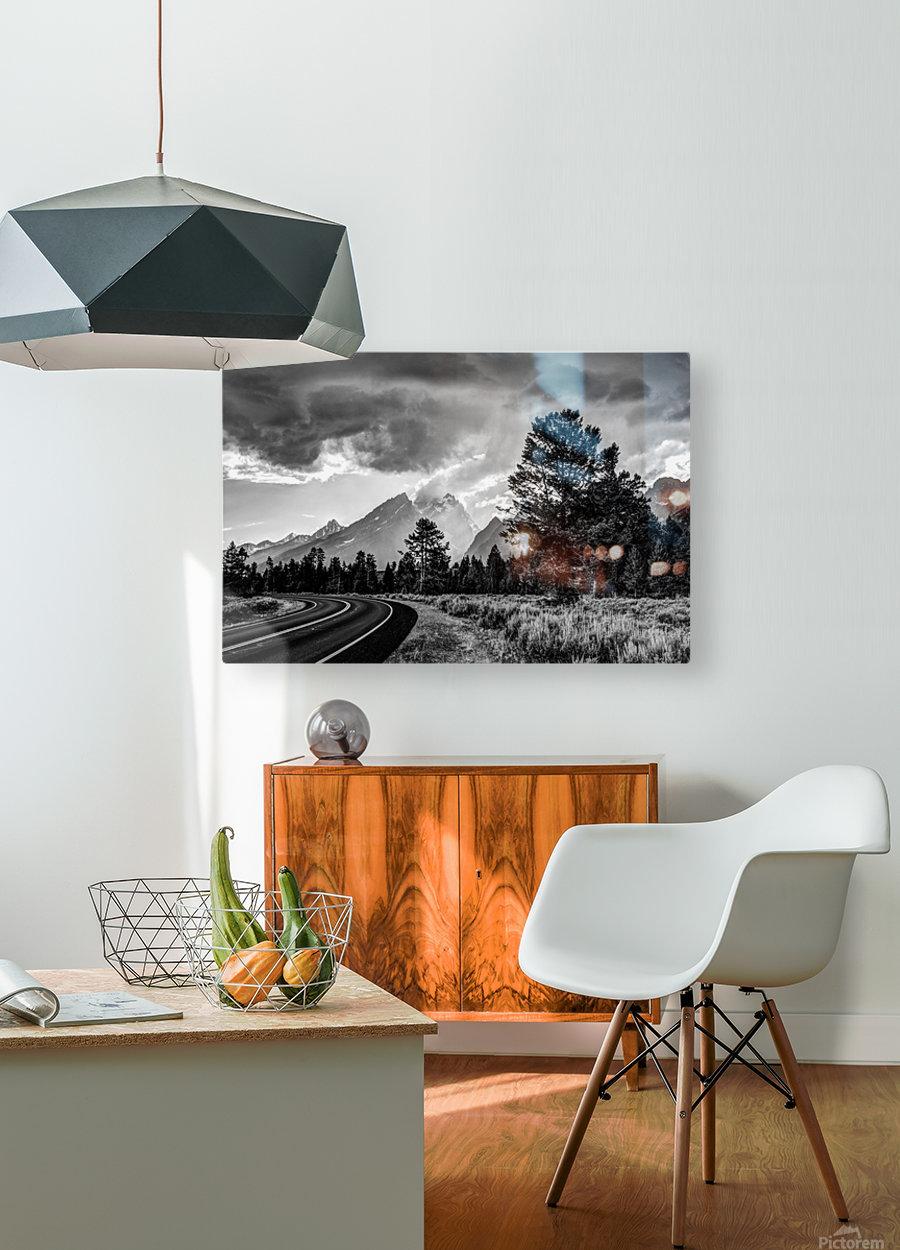 Grand Teton National Park Storm - Jackson Hole - Wyoming  HD Metal print with Floating Frame on Back
