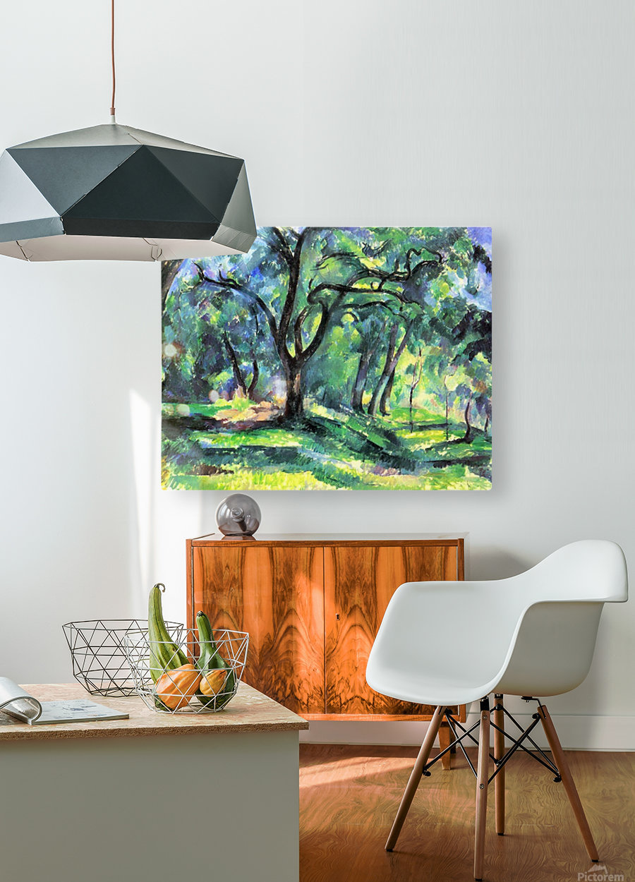 In the Woods by Cezanne  HD Metal print with Floating Frame on Back