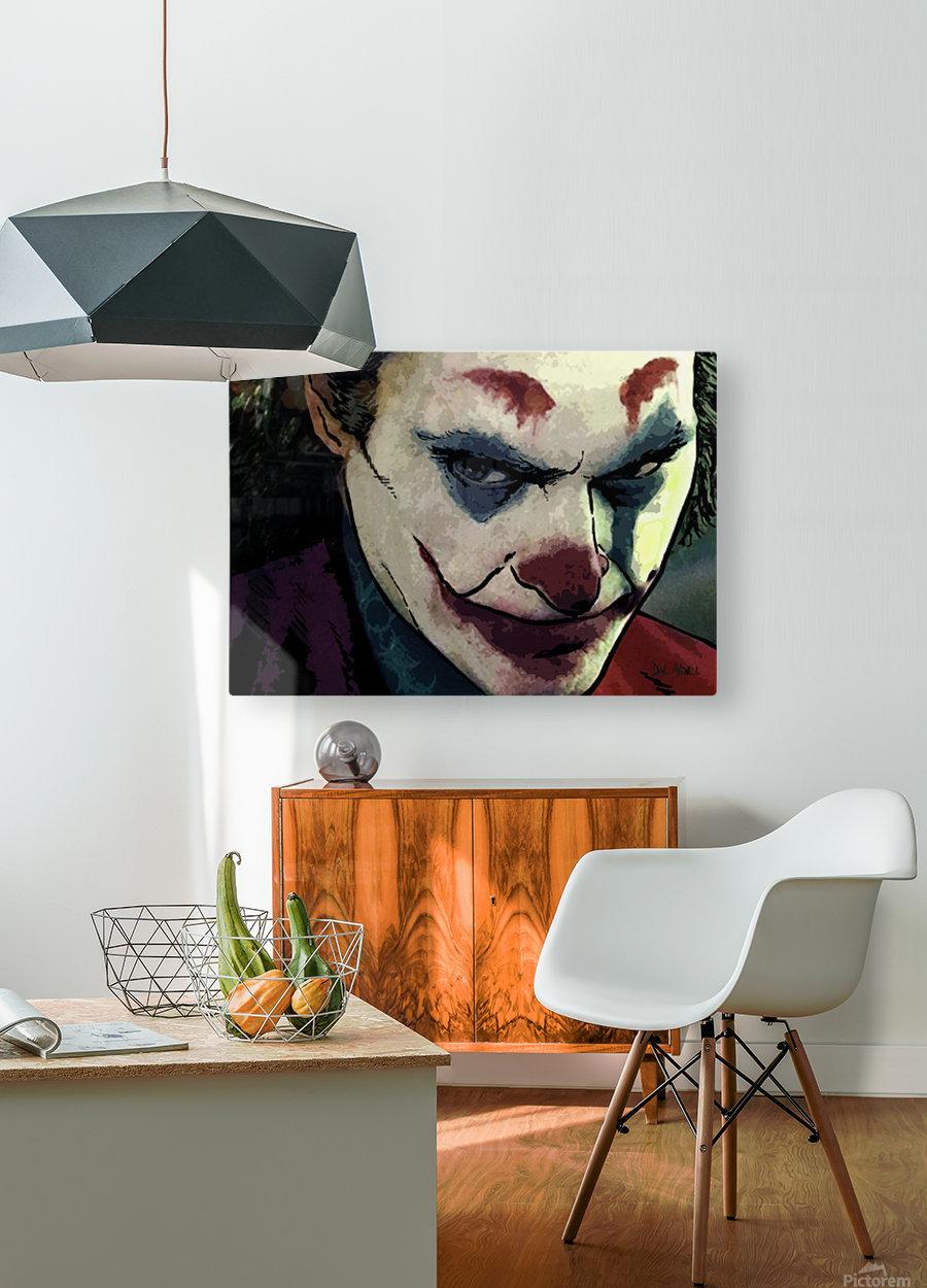 JOKER Joaquin Phoenix  HD Metal print with Floating Frame on Back