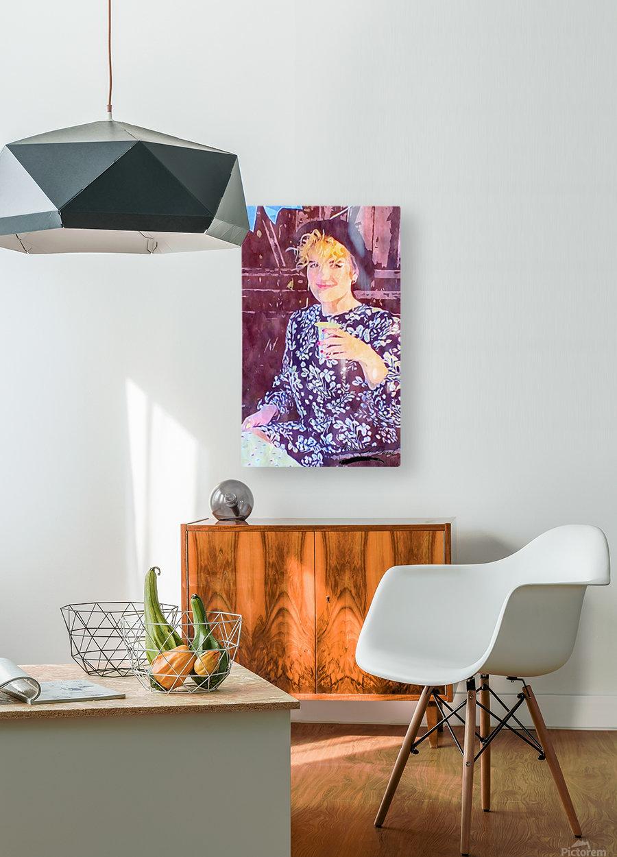 Flower Girl  HD Metal print with Floating Frame on Back