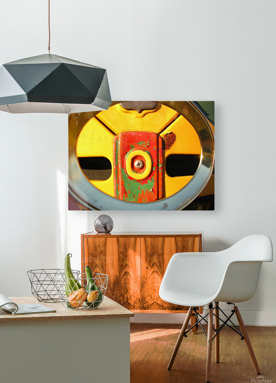 Rusted Love  HD Metal print with Floating Frame on Back