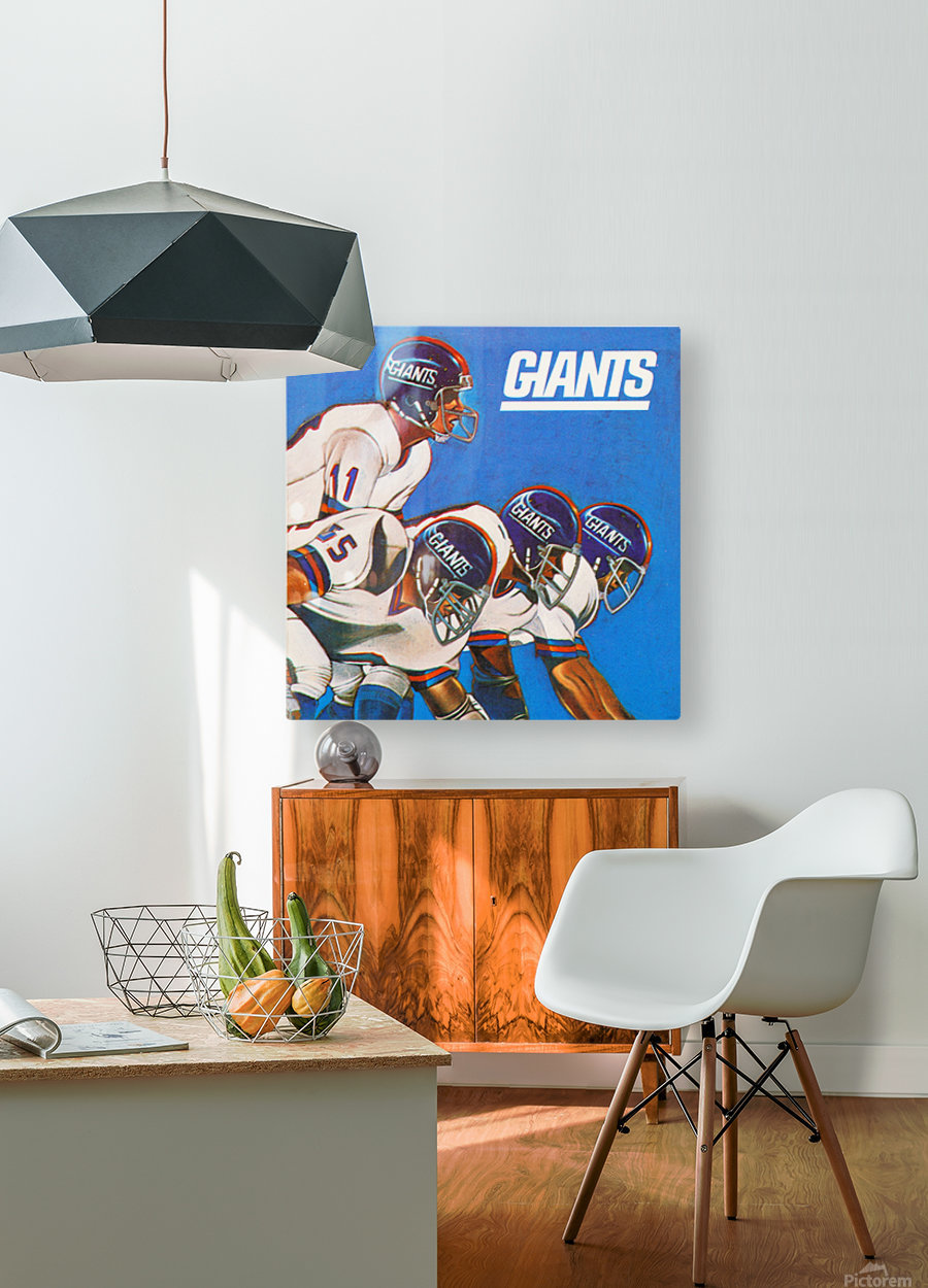 new york giants gift ideas  HD Metal print with Floating Frame on Back
