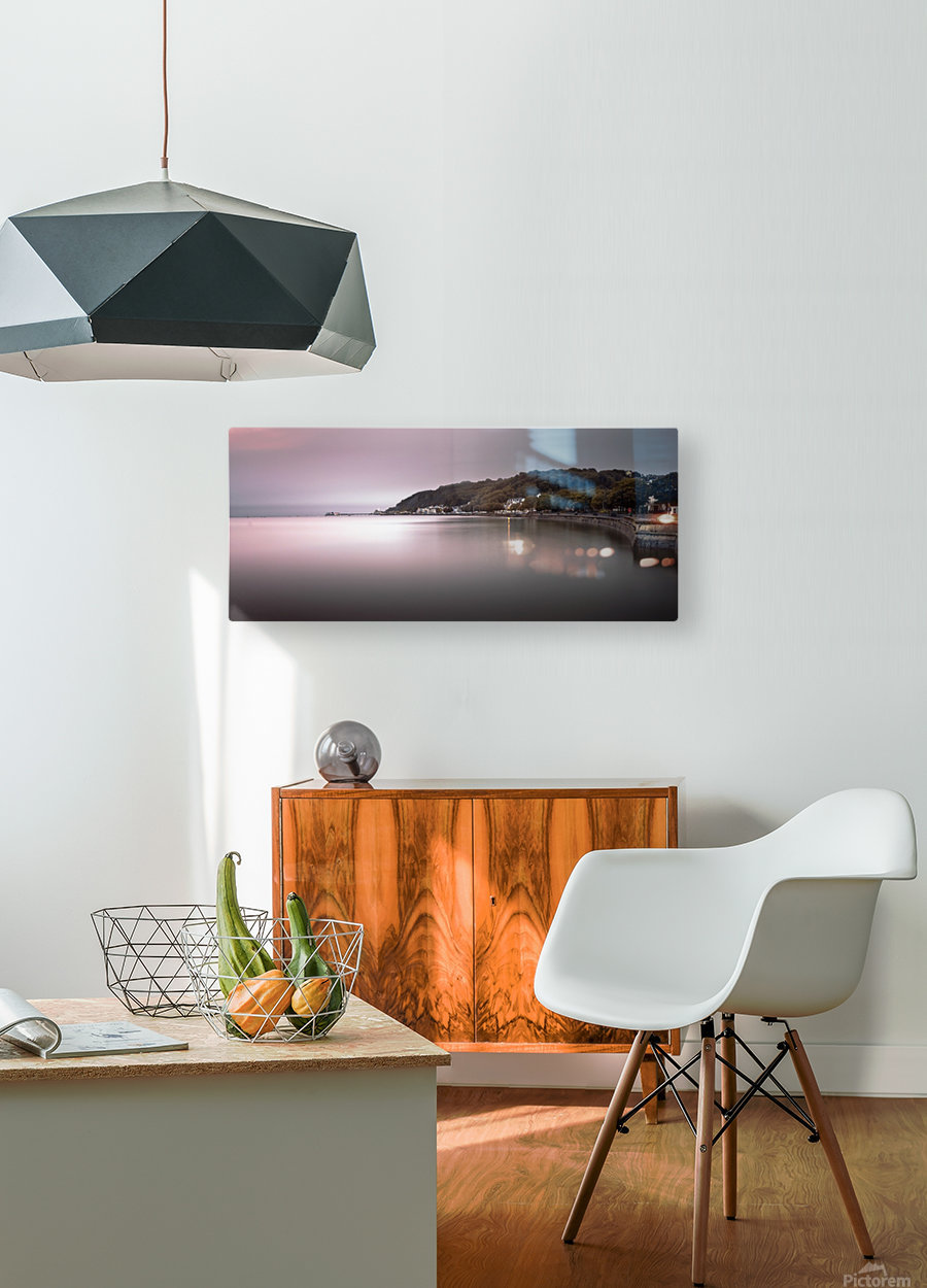 Mumbles coastline Swansea  HD Metal print with Floating Frame on Back