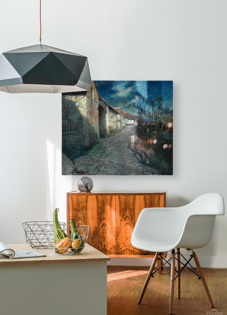 Moonlight in Beaulieu  HD Metal print with Floating Frame on Back